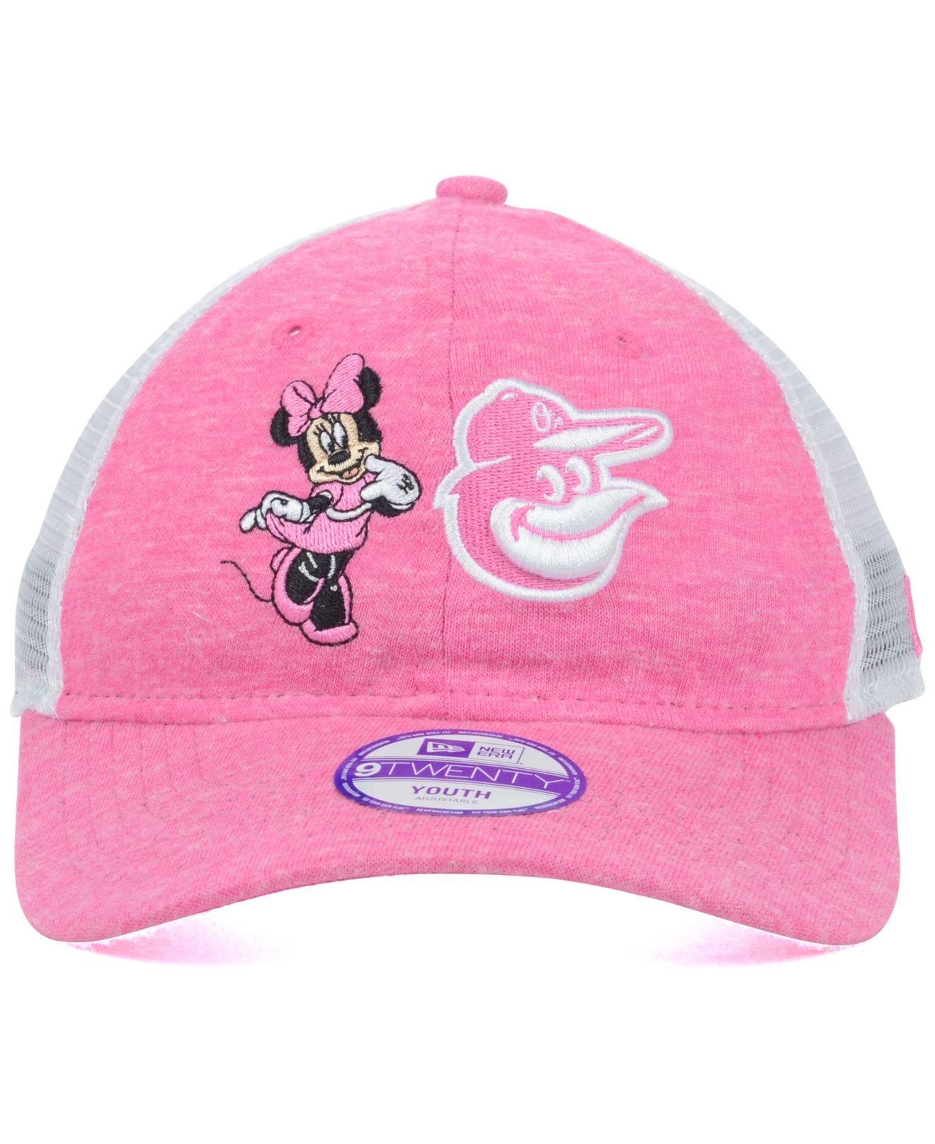 sports shoes 64c0a b4341 KTZ Girls  Baltimore Orioles Disney Tykes Trucker 9twenty Cap in ...