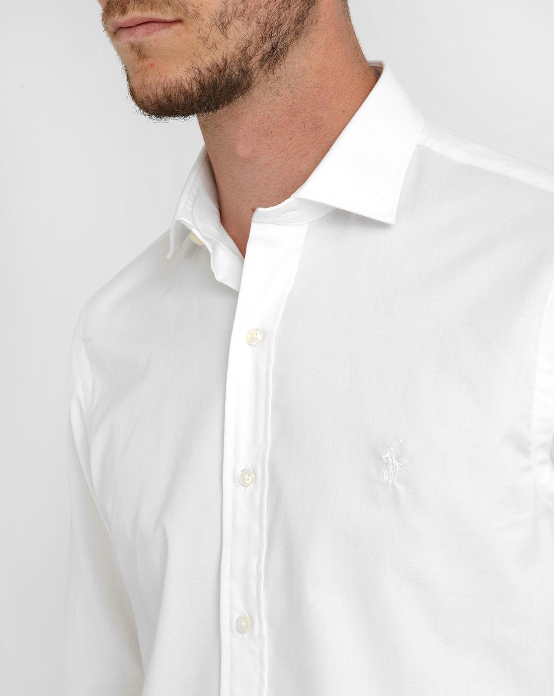 Polo ralph lauren white cutaway collar cotton piqu custom for White cutaway collar shirt