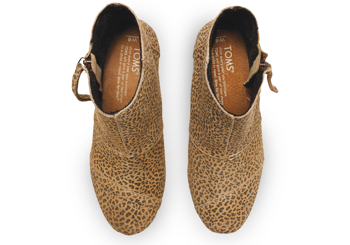 b79649b526c Lyst - TOMS Cheetah Suede Women s Desert Wedge Highs