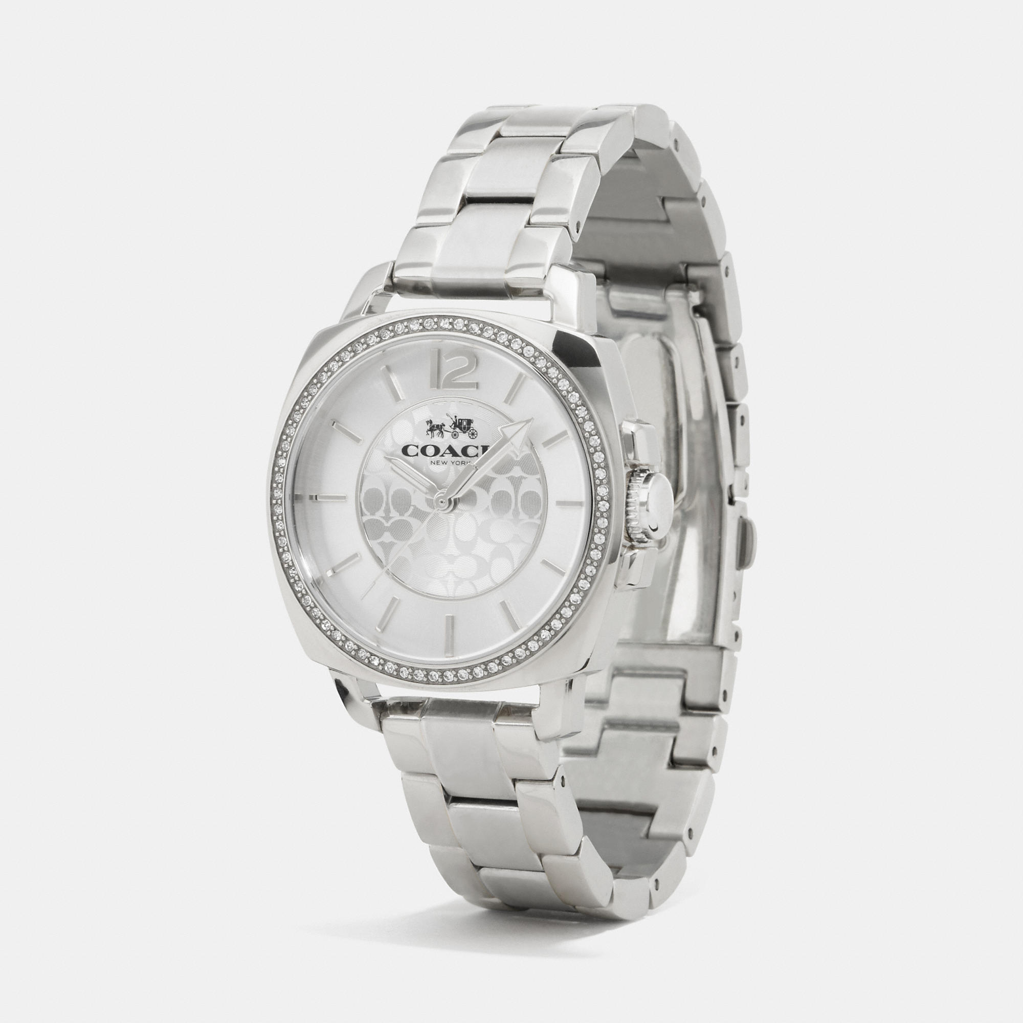 suede pyramid bracelet faced products crystal watches petite set silver gift peugeot watch
