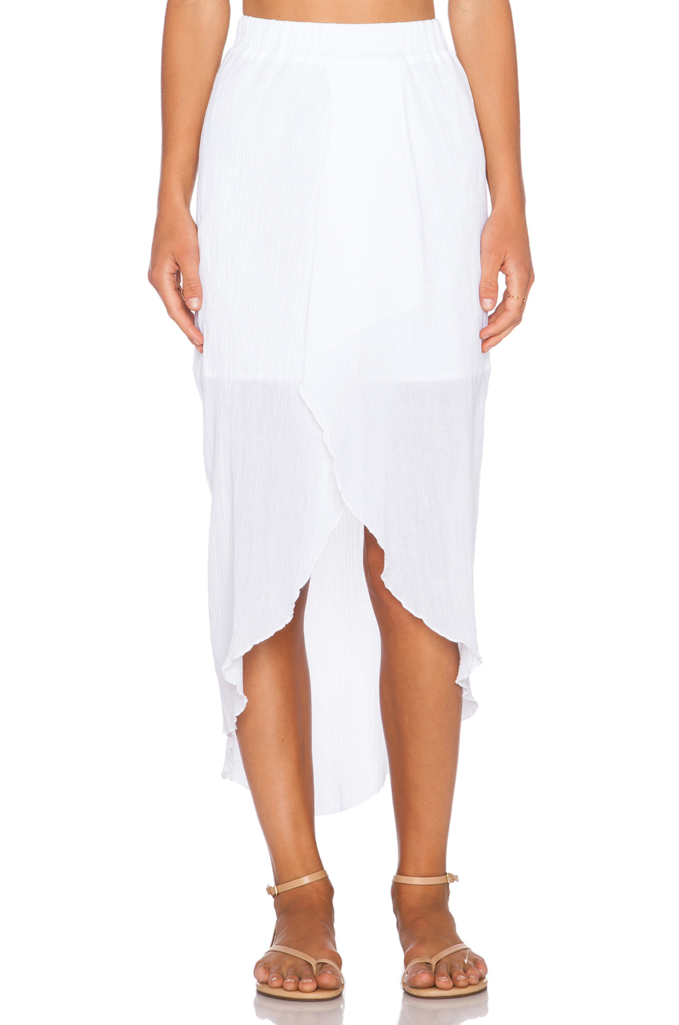c c california high low maxi skirt in white lyst
