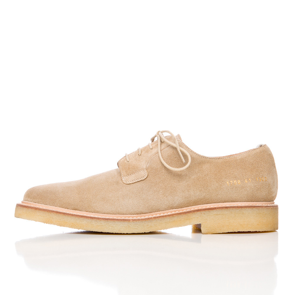 common projects suede cadet derby in tan in multicolor for men lyst. Black Bedroom Furniture Sets. Home Design Ideas