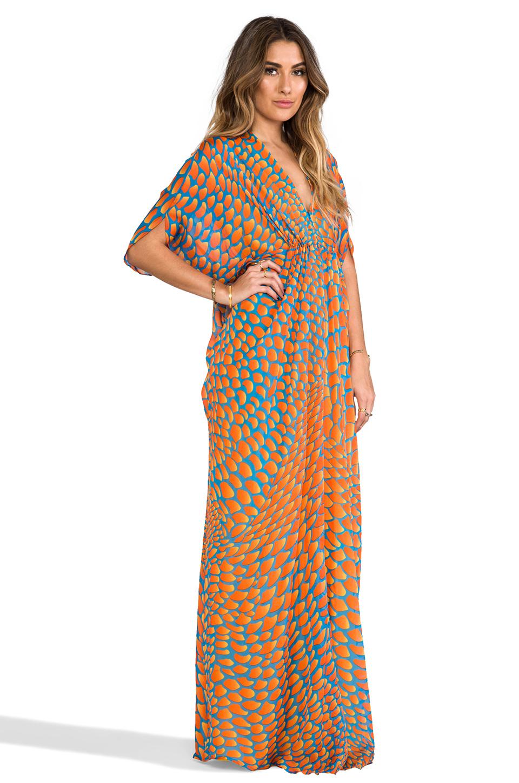 Issa Chiffon Maxi Dress in Orange in Orange   Lyst