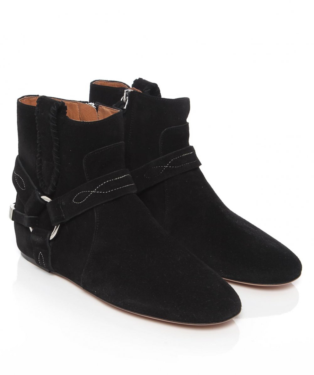 isabel marant suede ralph boots in black lyst. Black Bedroom Furniture Sets. Home Design Ideas