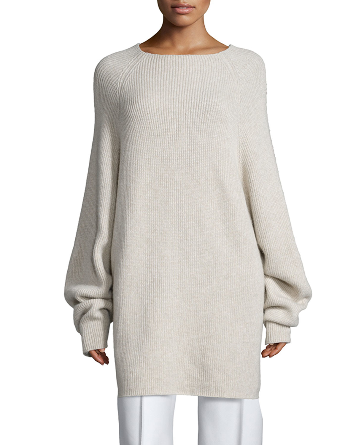 The row Kandel Oversize Cashmere Sweater in White | Lyst
