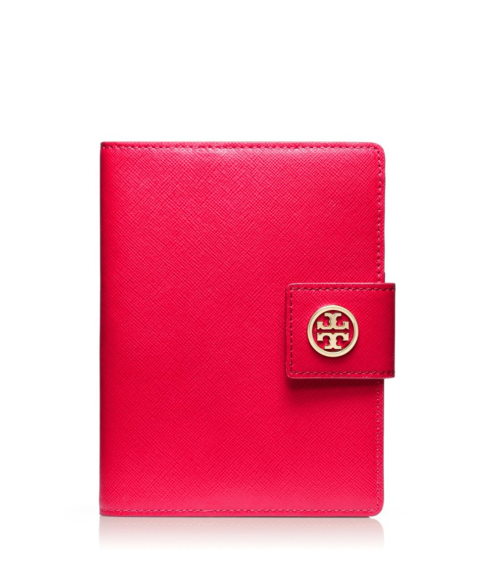 Tory Burch Robinson Passport Holder in Pink (NEW CARNIVAL ... Designer Passport Holder