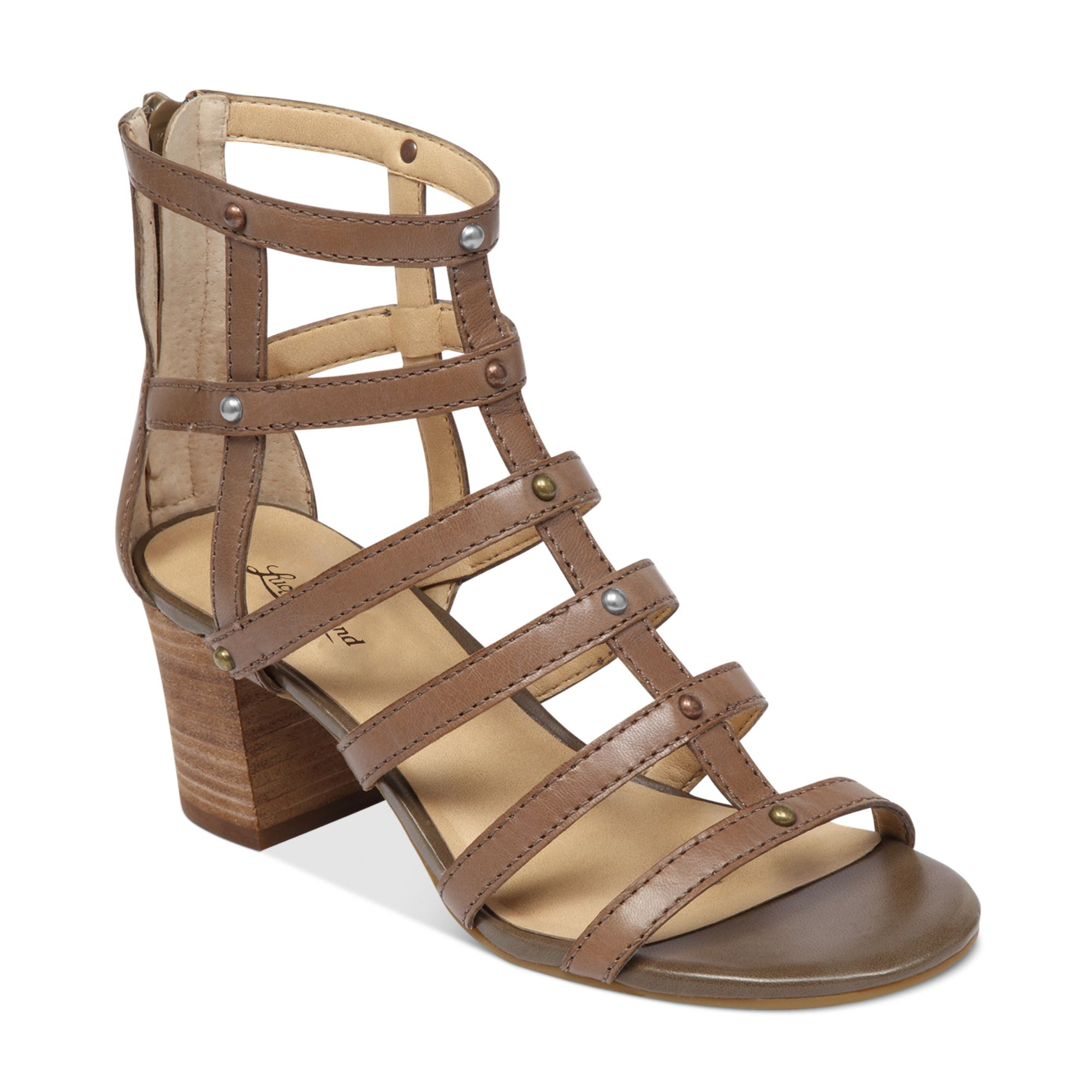 Lucky Brand Lisbethe Gladiator Sandals In Brown (Brindle) | Lyst