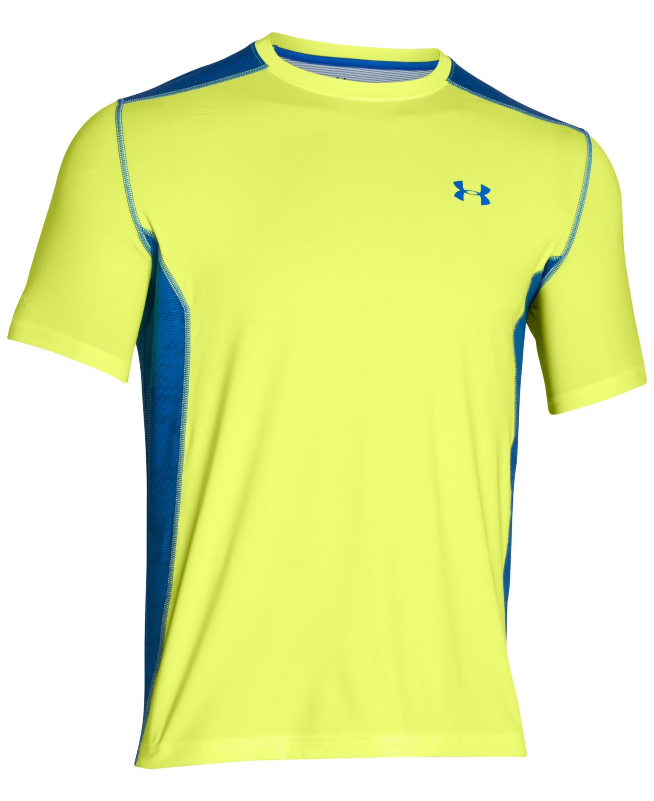 lyst under armour men 39 s heatgear raid t shirt in blue. Black Bedroom Furniture Sets. Home Design Ideas