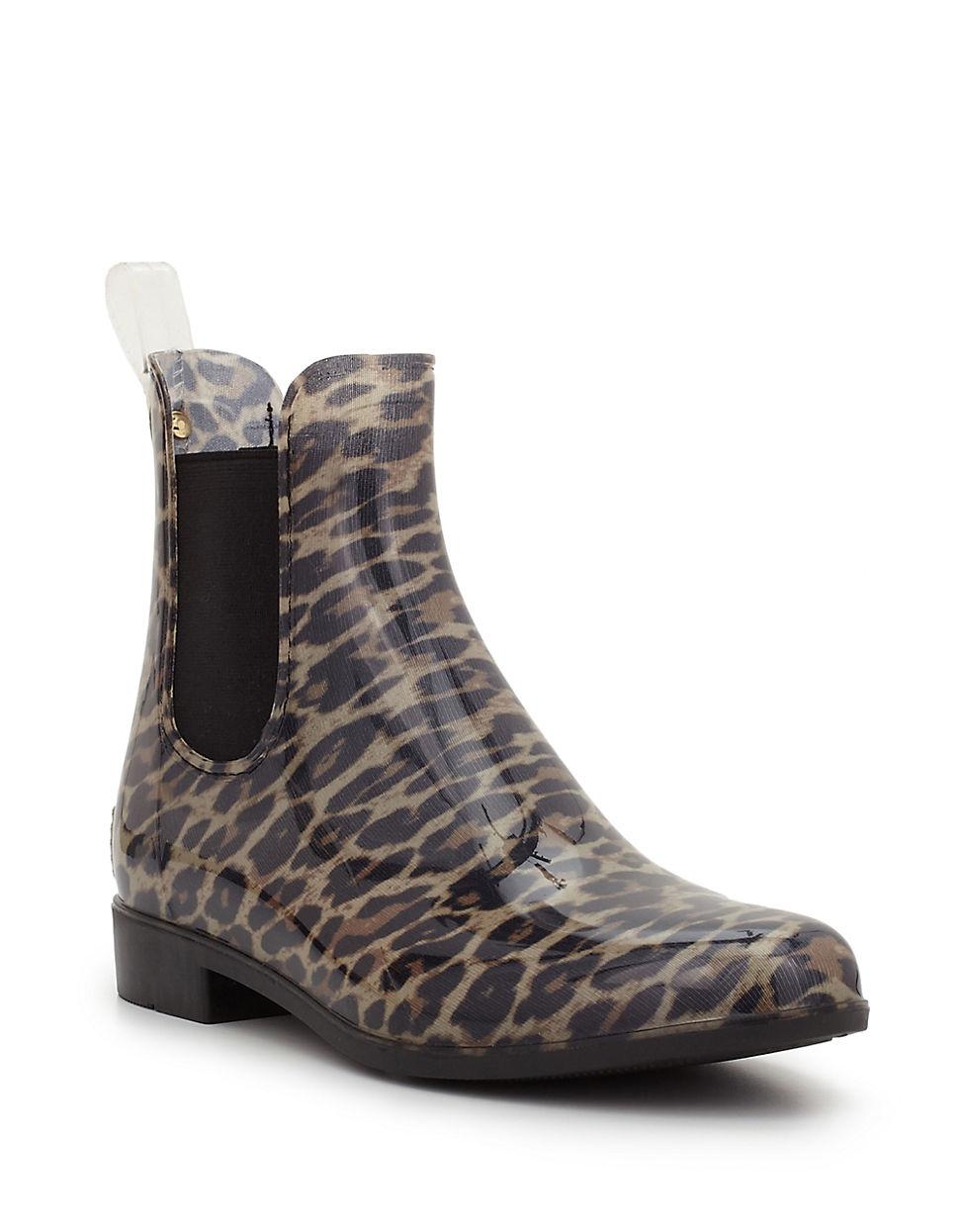 Sam Edelman Tinsley Leopard Print Chelsea Rain Boots Lyst