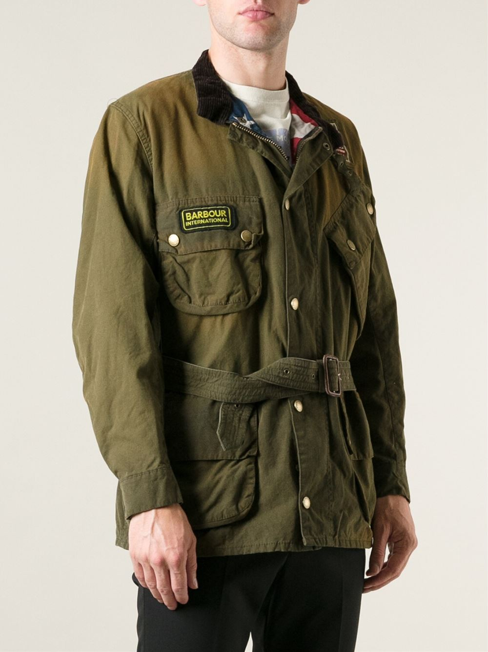 Barbour Washington Waxed Jacket In Green For Men Lyst