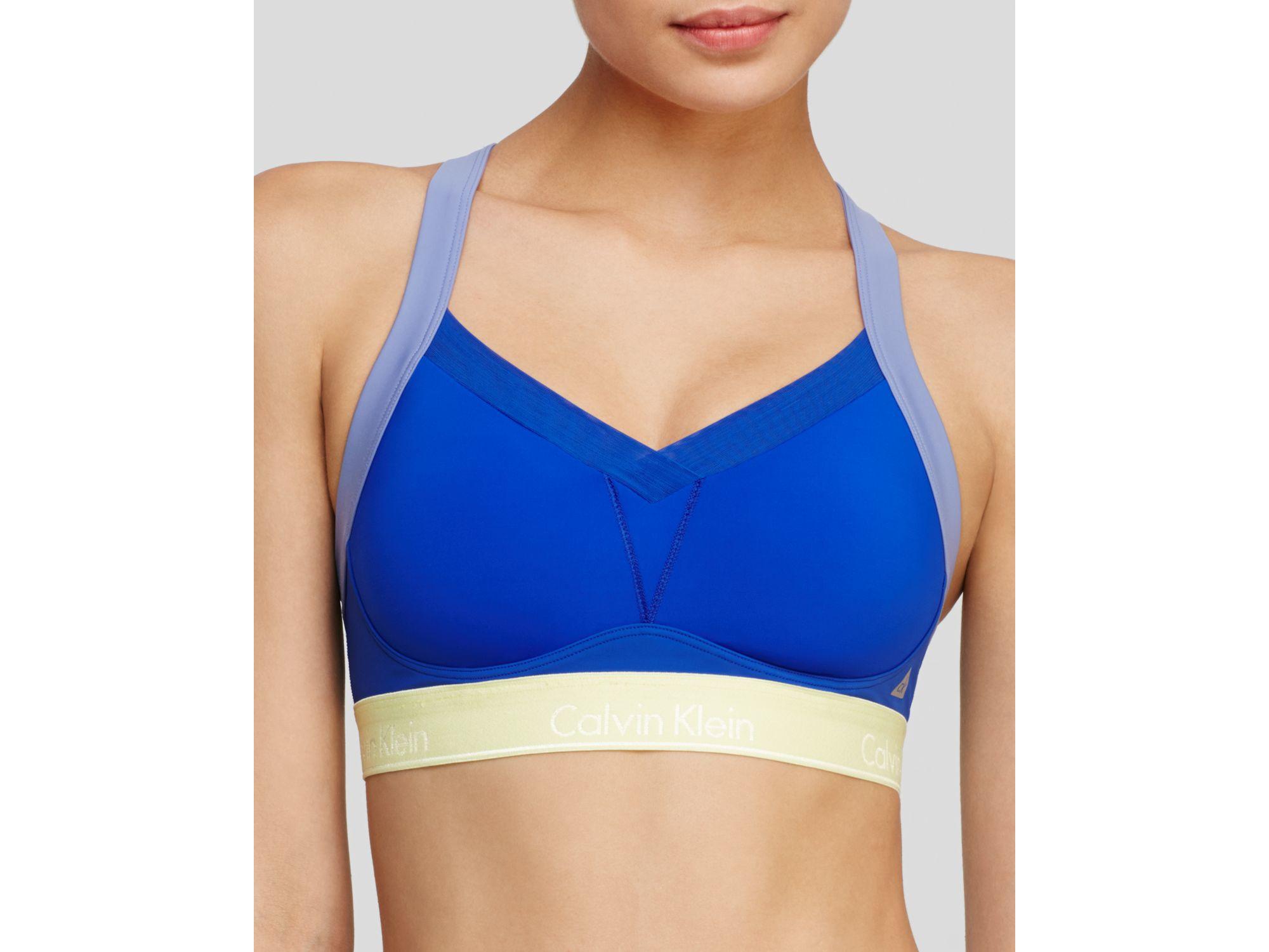 79bd45ca3b Calvin Klein. Women s Blue Sports Bra - Flex Motion Convertible High Impact   Qf1085