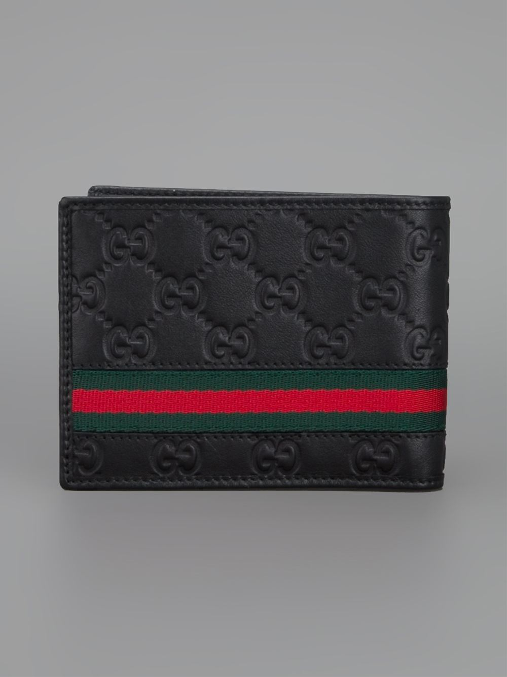 Lyst Gucci Monogram Embossed Wallet In Black For Men