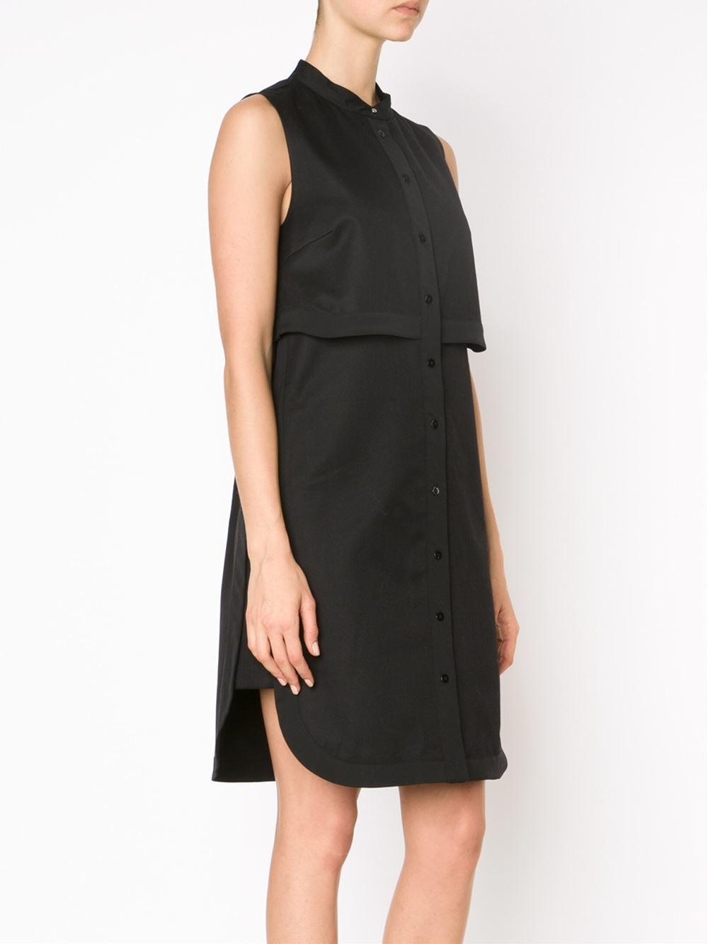 Proenza schouler Sleeveless Shirt Dress in Black | Lyst