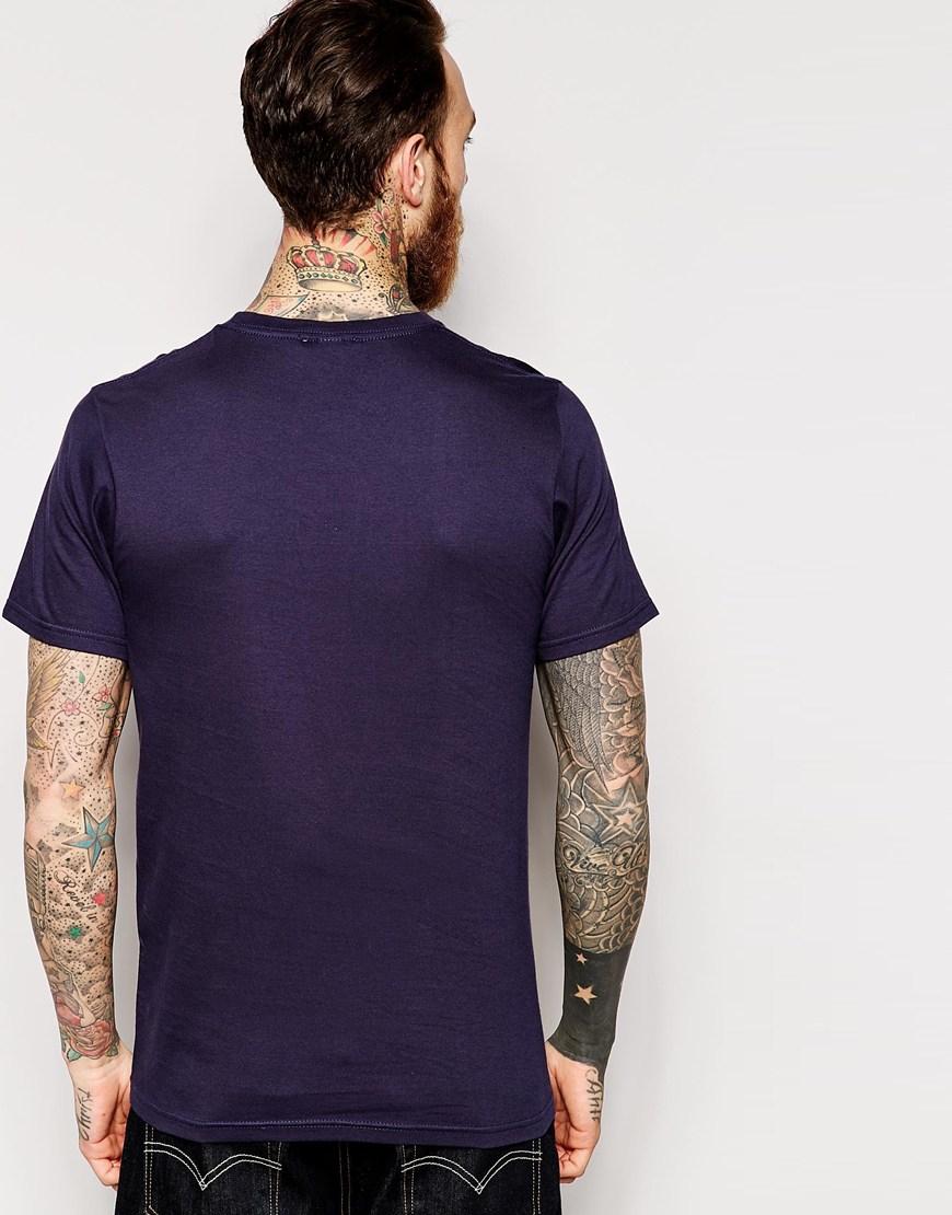 Ymc T Shirt Spider Web Print In Blue For Men Lyst