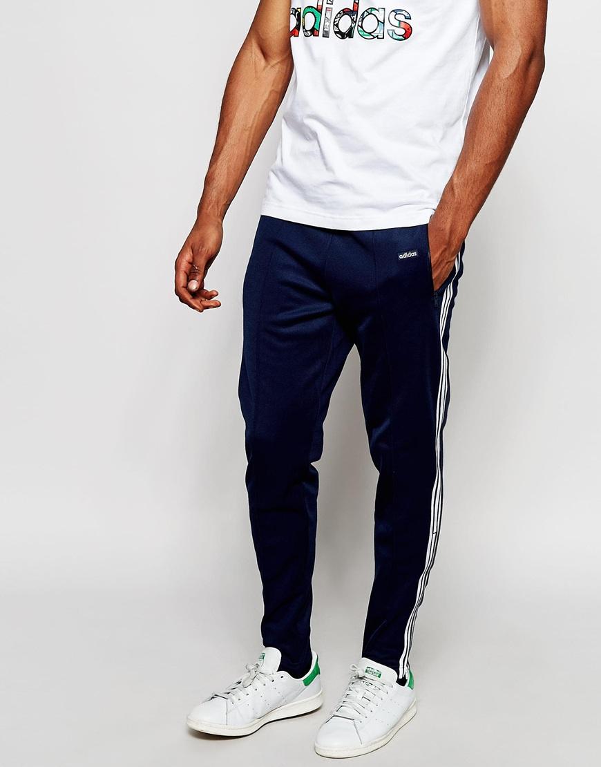 Lyst - adidas Originals Beckenbauer Skinny Joggers With Stirrups ... aa85133f5563