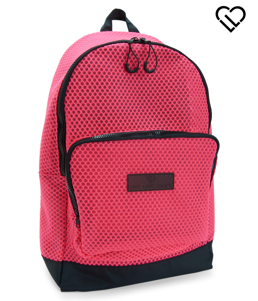 Live love dream Lld Honeycomb Mesh Backpack in Pink | Lyst