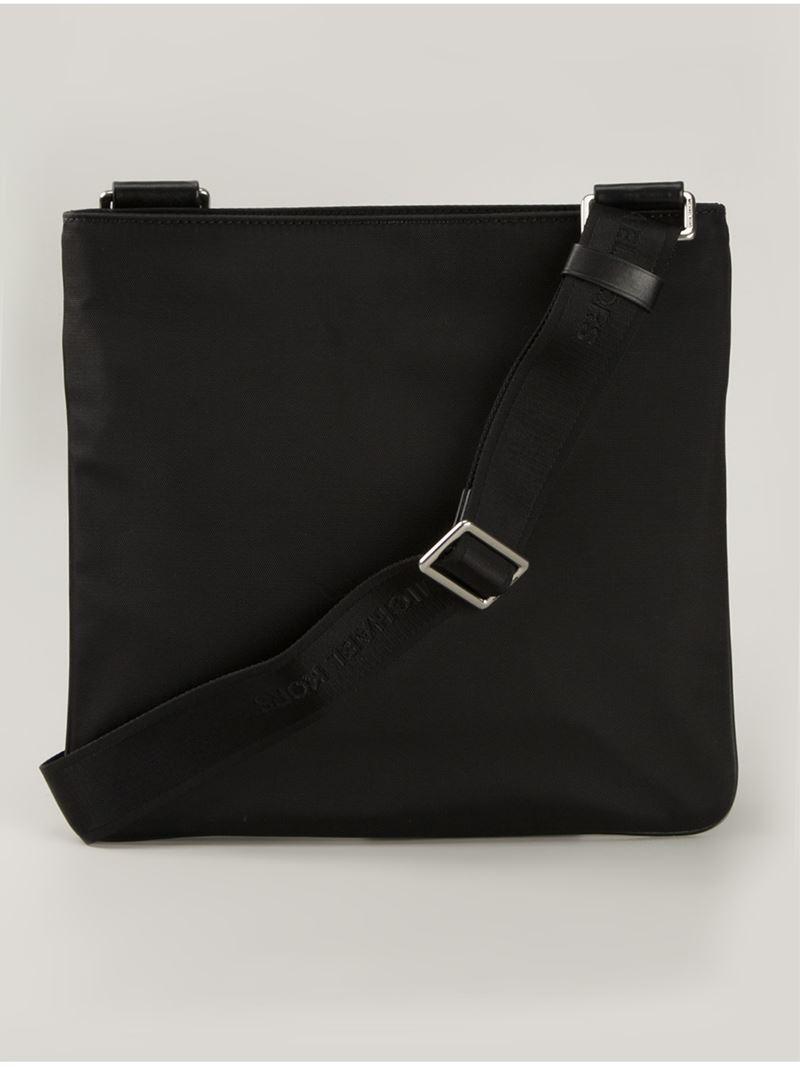 michael kors 39 windsor 39 messenger bag in black for men lyst. Black Bedroom Furniture Sets. Home Design Ideas