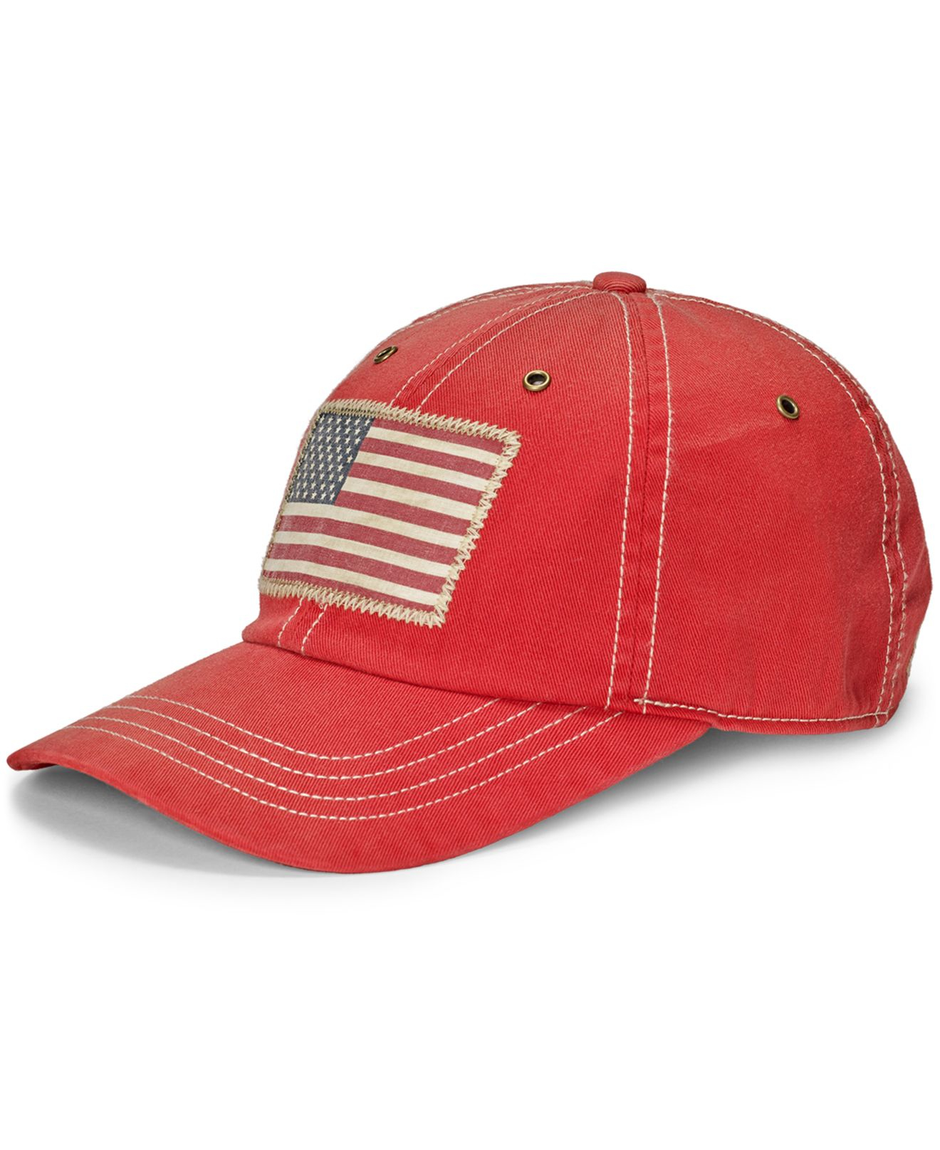 Lyst - Polo Ralph Lauren Men s Chino Flag Graphic Cap in Red for Men da9a7c43555