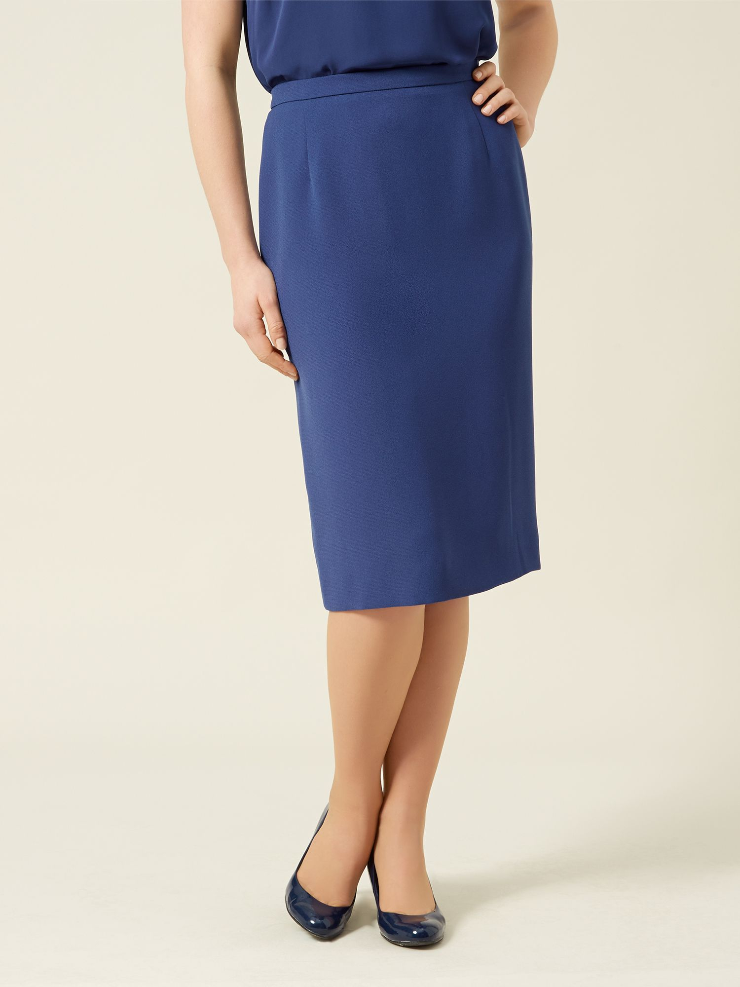 eastex navy pencil skirt in blue lyst