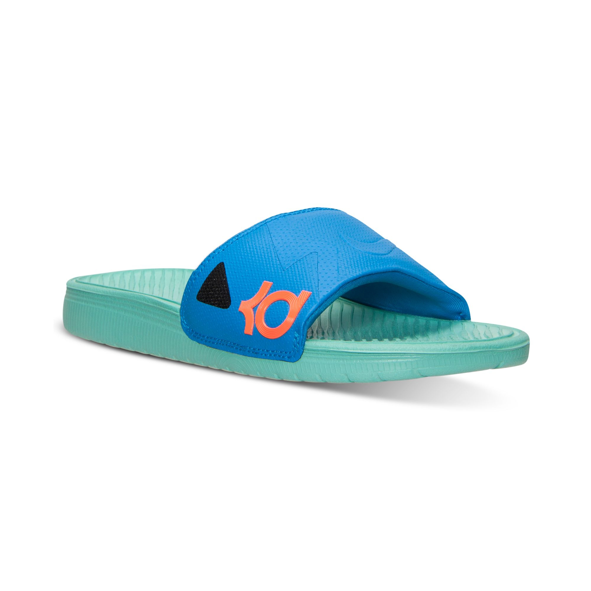 a8b79362a57f Lyst - Nike Mens Solarsoft Kd Slide Sandals From Finish Line in Blue ...