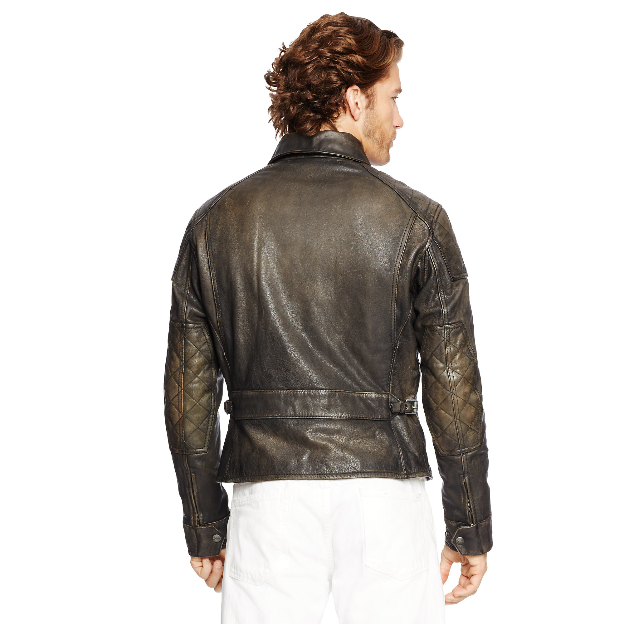 287e67508 ... Polo Black Leather Jacket  Polo Ralph Lauren Leather Motorcycle Jacket  In