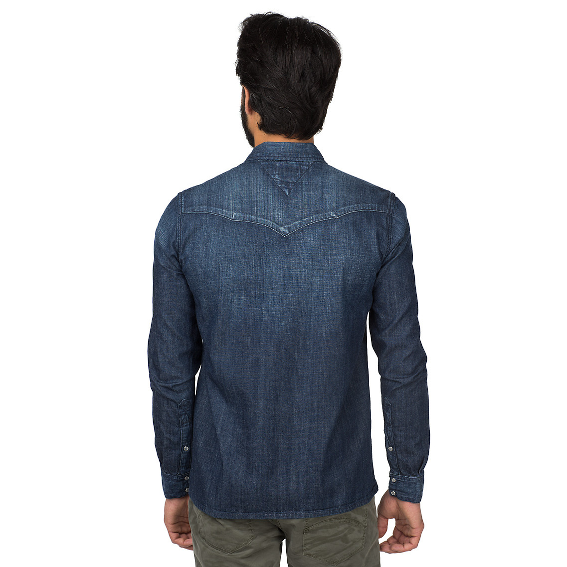 6d52359aa65 Tommy Hilfiger Gratton Denim Shirt in Blue for Men - Lyst