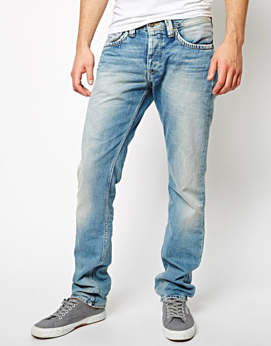 Lyst - Pepe Jeans Cash Regular Tapered Fit Light Wash in Blue for Men 8a0459d49b