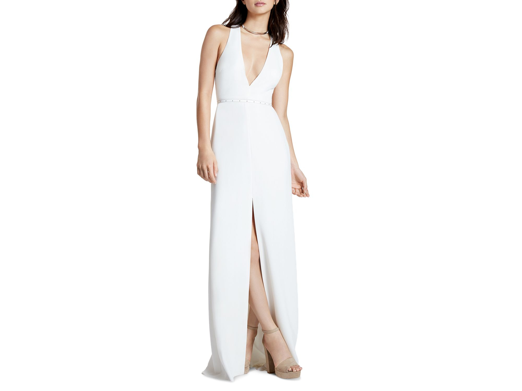 Dorable White Cut Out Gown Image - Wedding and flowers ispiration ...