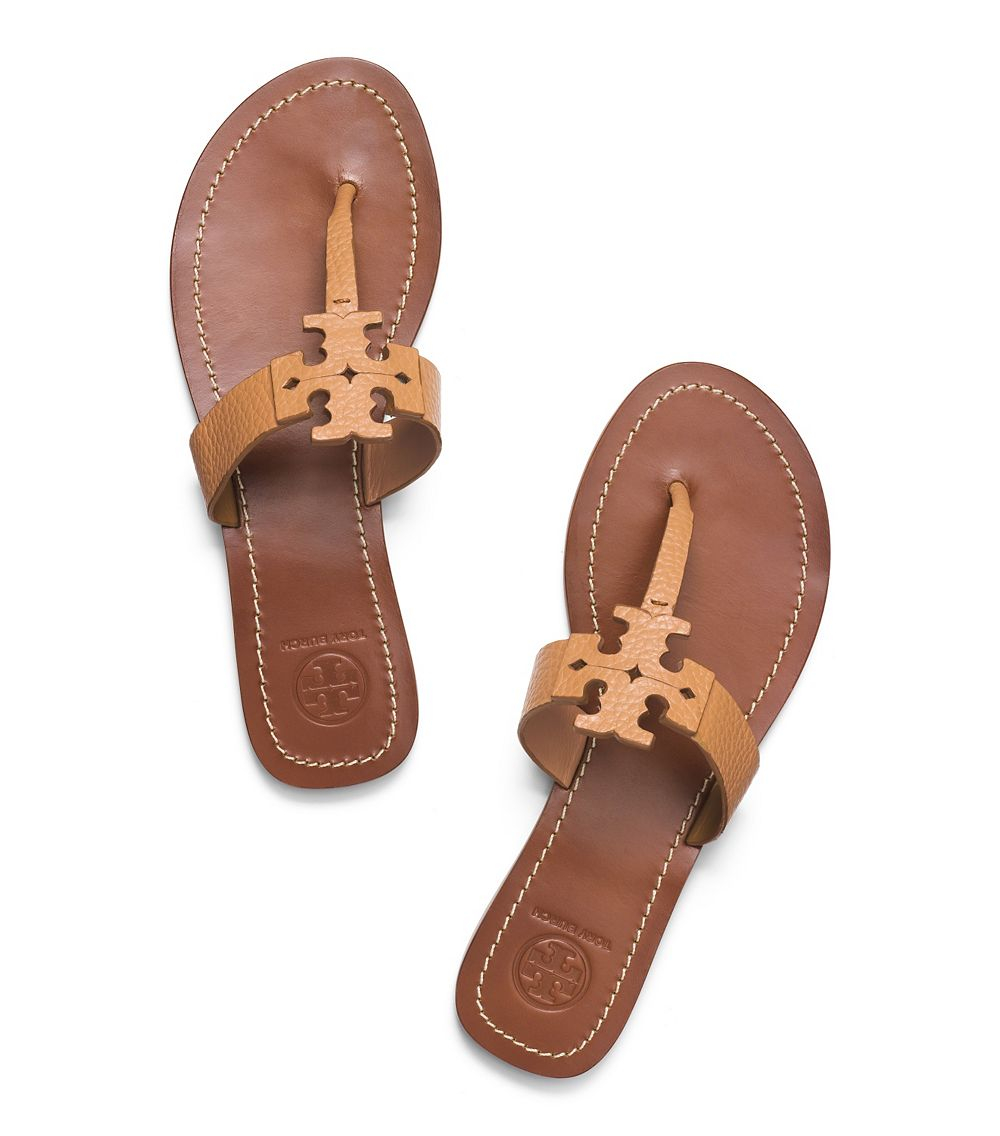 71292a447 ... italy lyst tory burch moore flat thong sandal in brown 023aa 38c7f