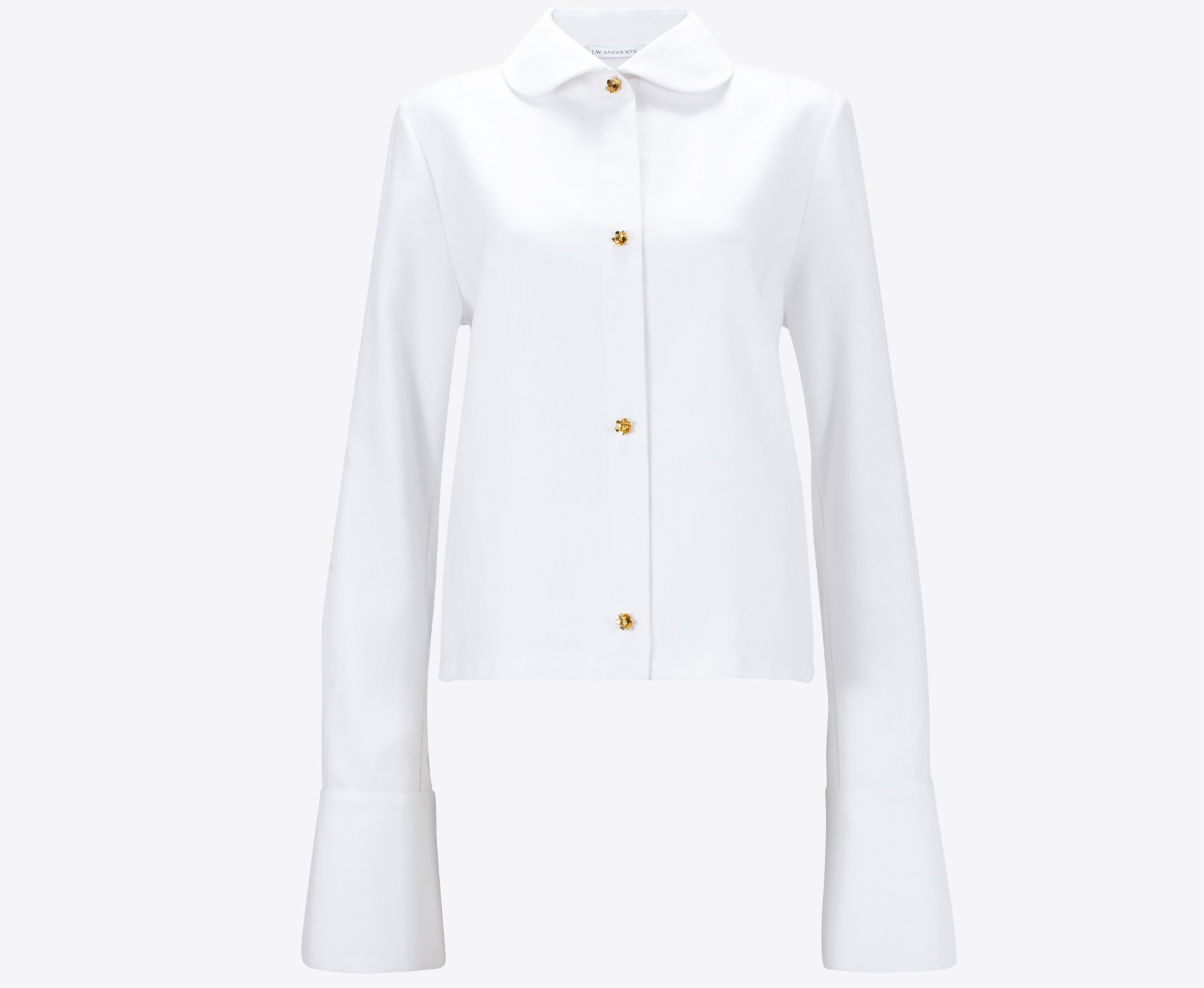 J W Anderson French Cuff Blouse In White Lyst