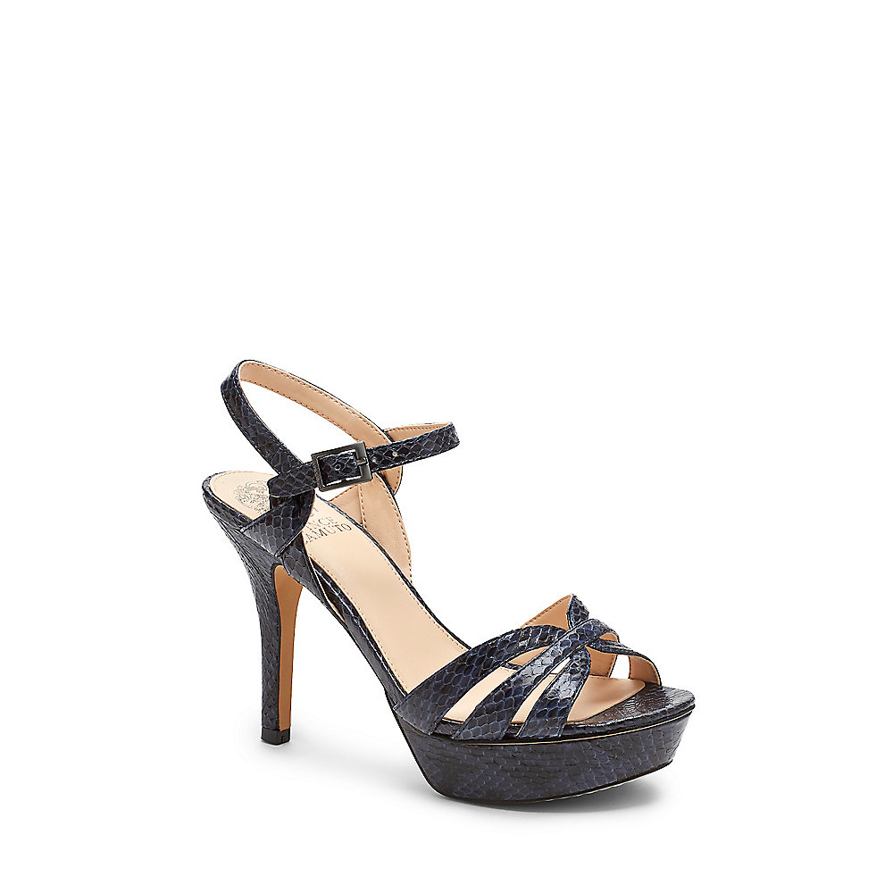 Vince Camuto Peppa2 Snake Embossed Strappy Platform