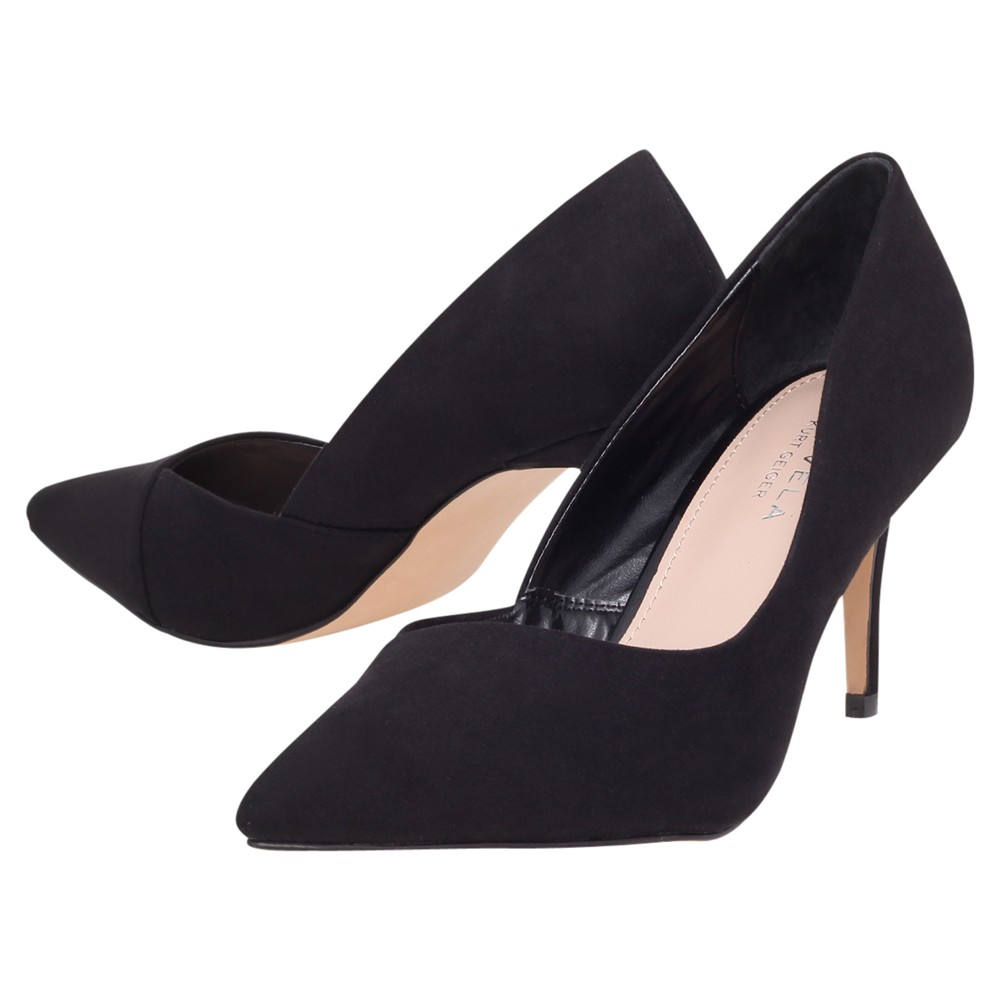 Steve Madden Black Cut Out Court Shoe