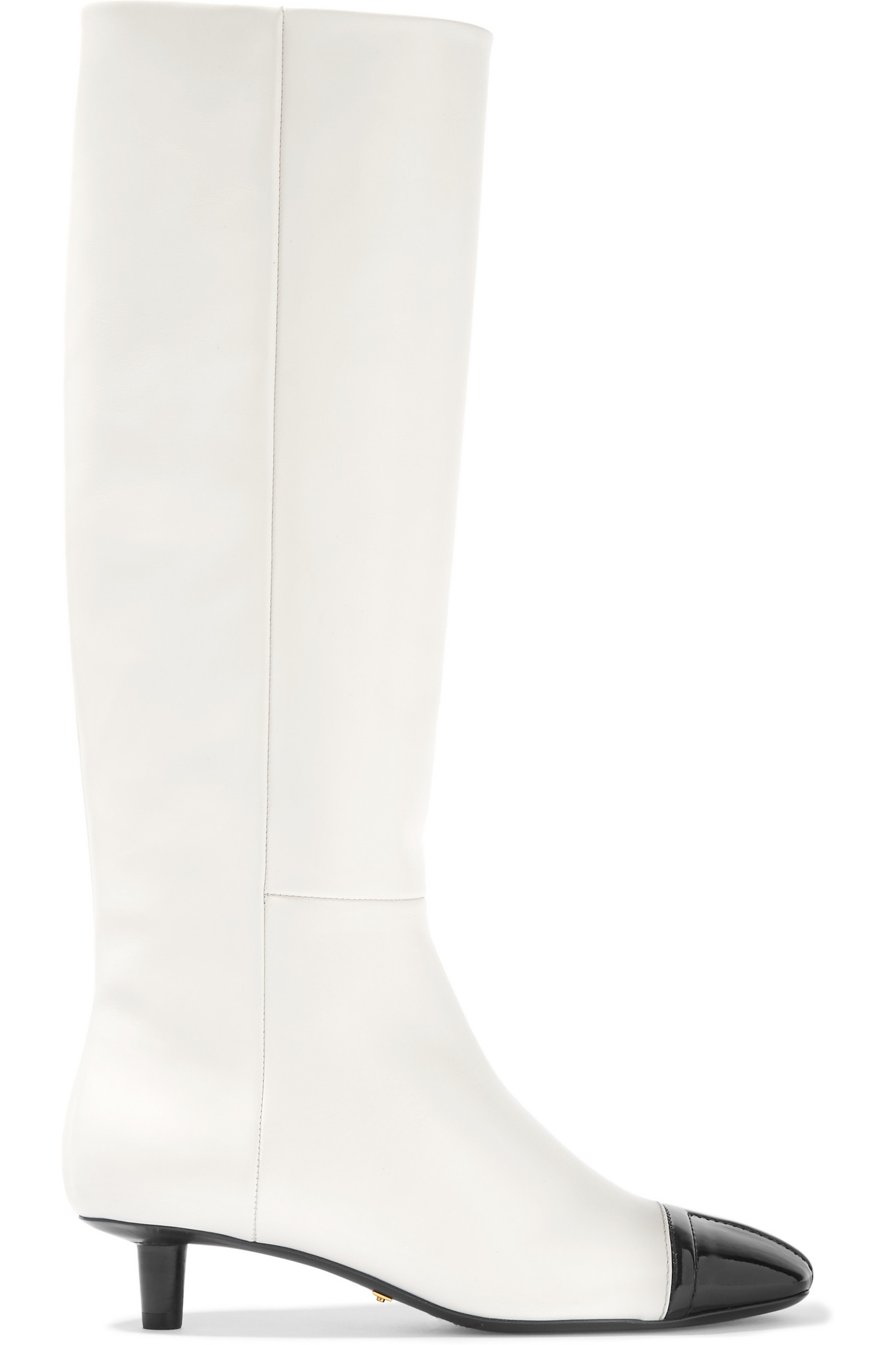 8b9d79fb56c4f Tom Ford Two-tone Matte And Patent-leather Knee Boots in White - Lyst