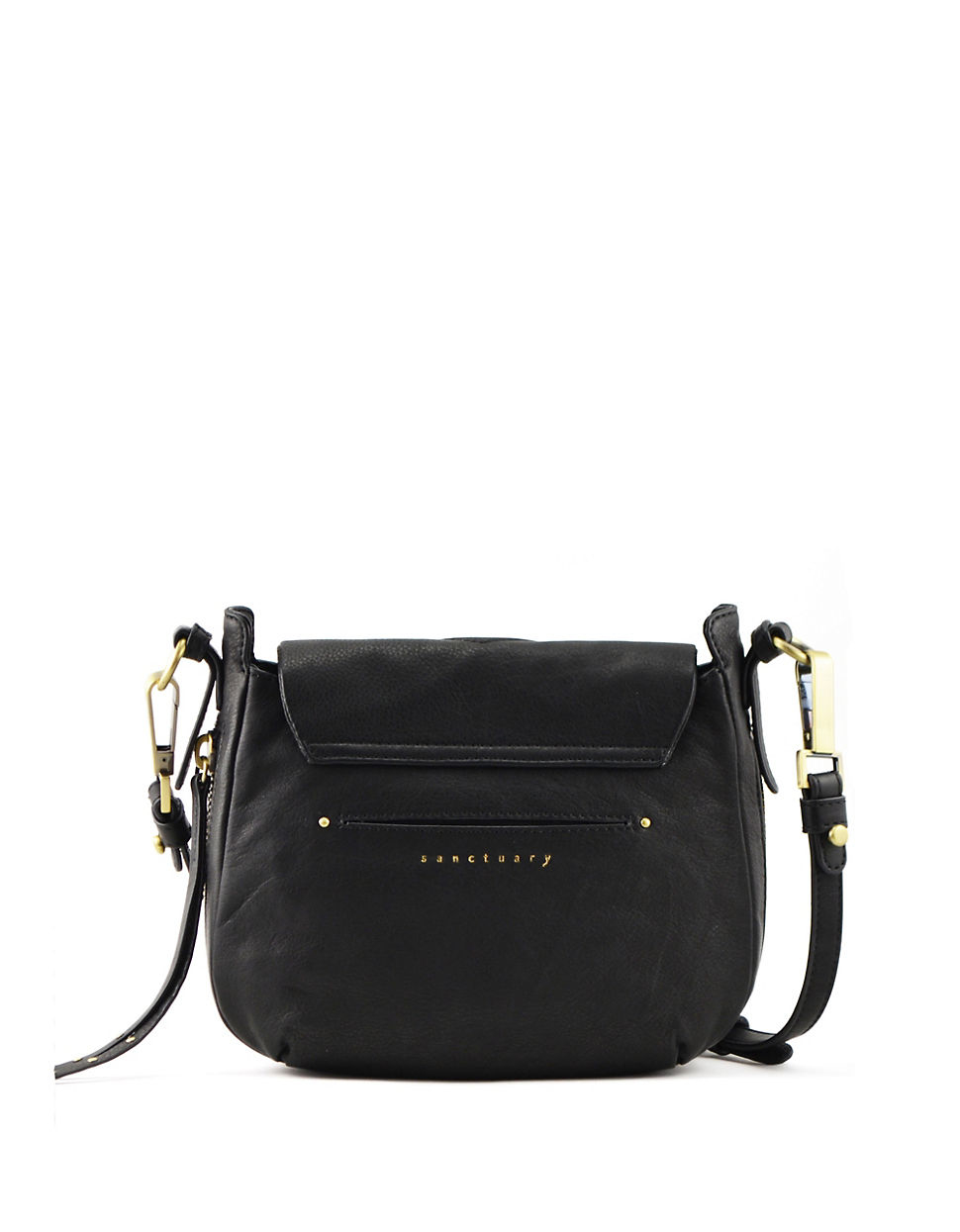 Sanctuary Indie Black Leather Crossbody in Black | Lyst