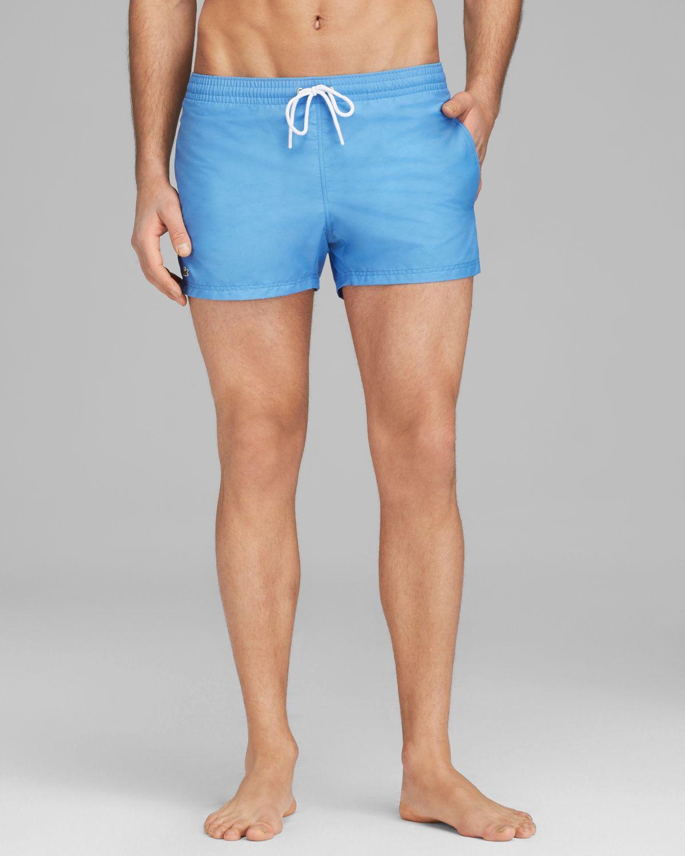 cf72d7f818 Lacoste Modern Length Swim Shorts in Blue for Men - Lyst