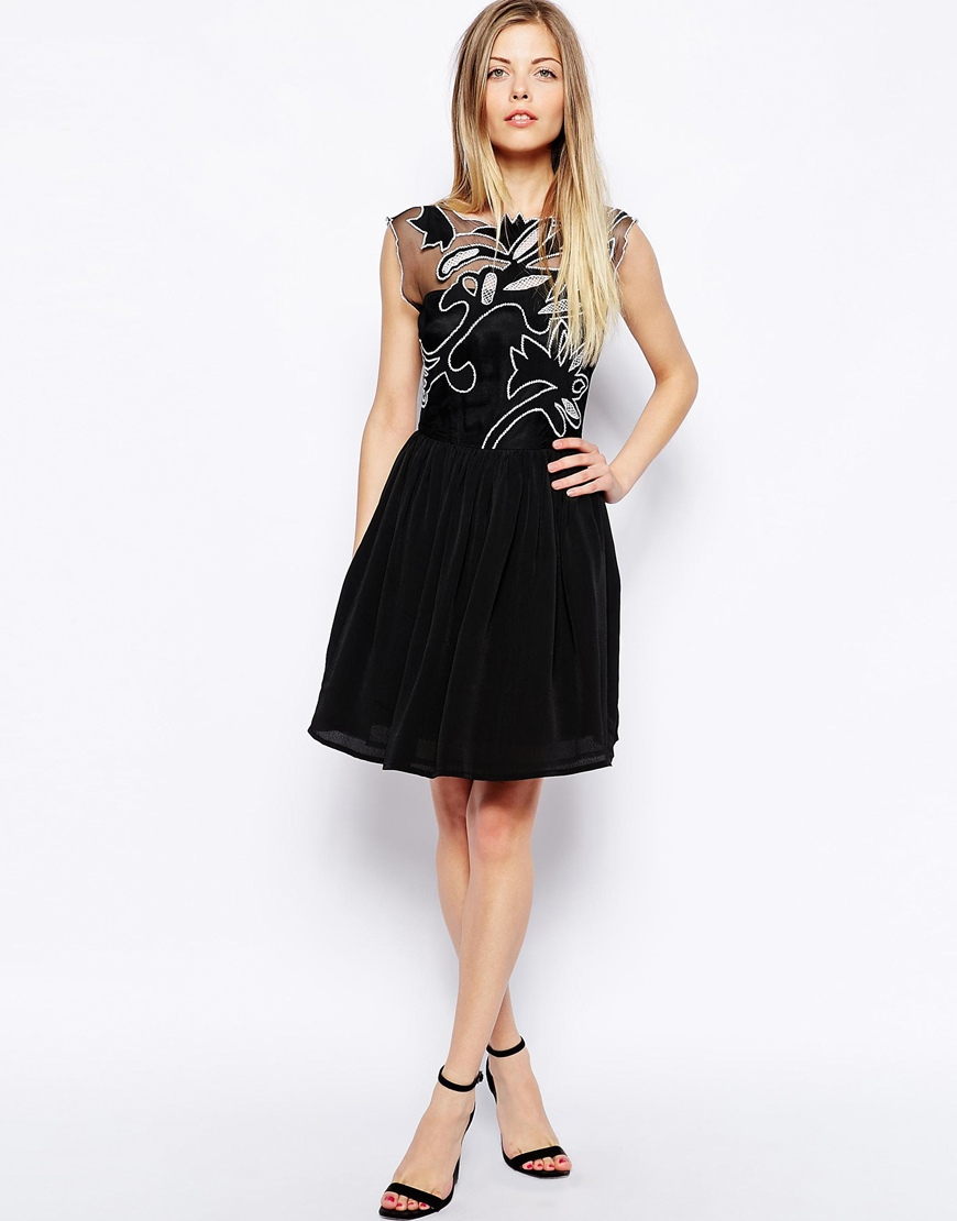 Asos Gothic Prom Dress in Black | Lyst