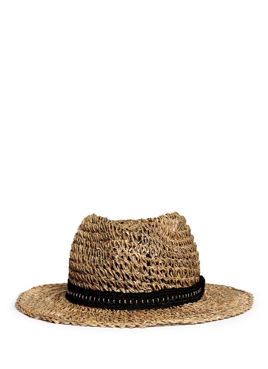 d33fcf64f5e832 Lanvin Crochet Straw Hat in Natural for Men - Lyst