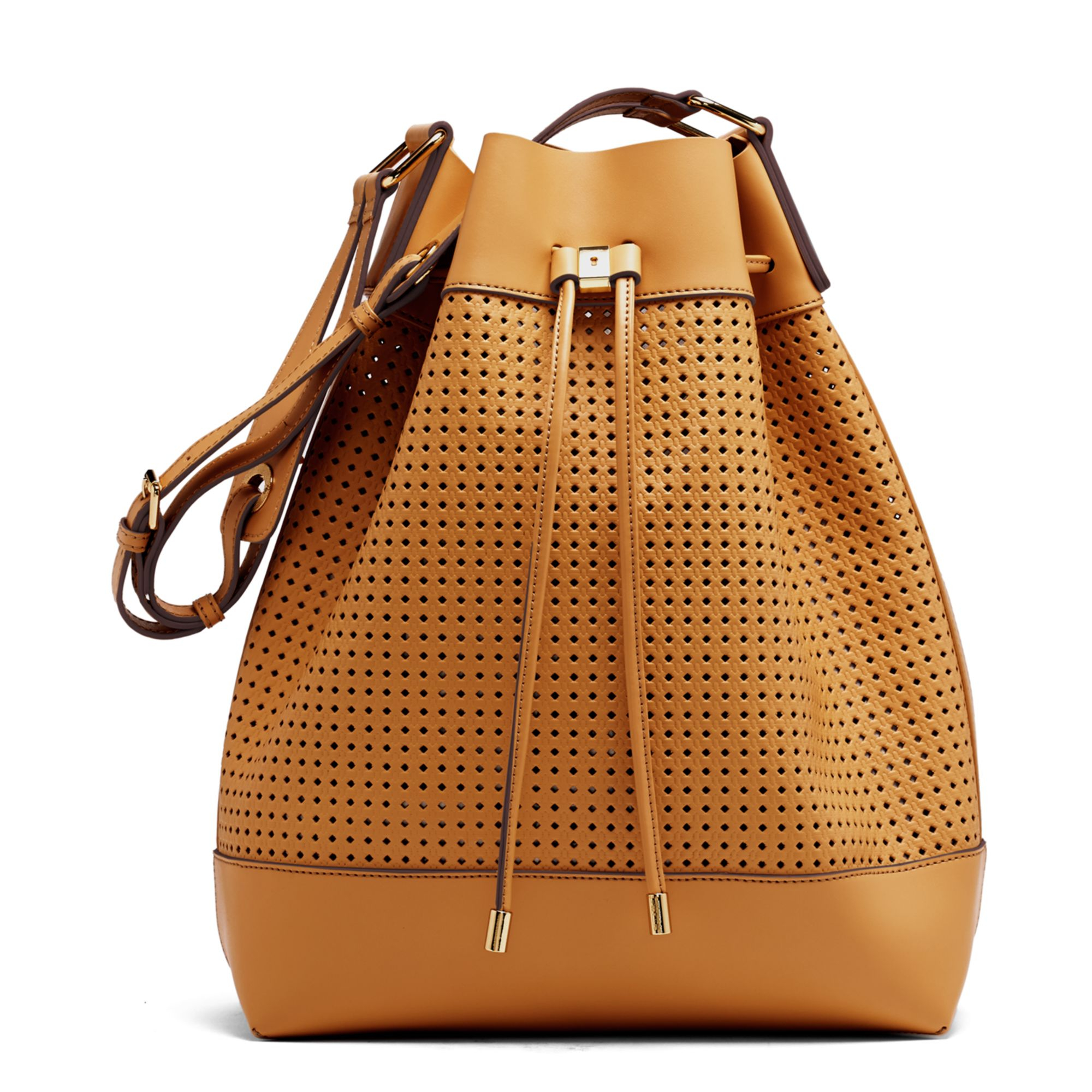 Vince camuto Colby Drawstring Bag in Brown   Lyst