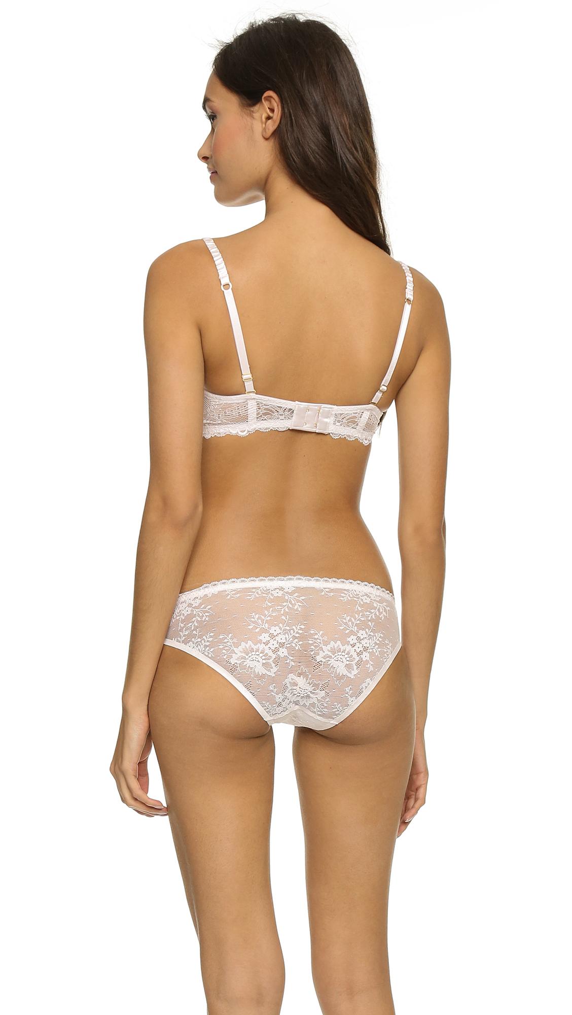 9266904681ff9 Lyst - Stella McCartney Mia Loving Strapless Bra - Floral White in White
