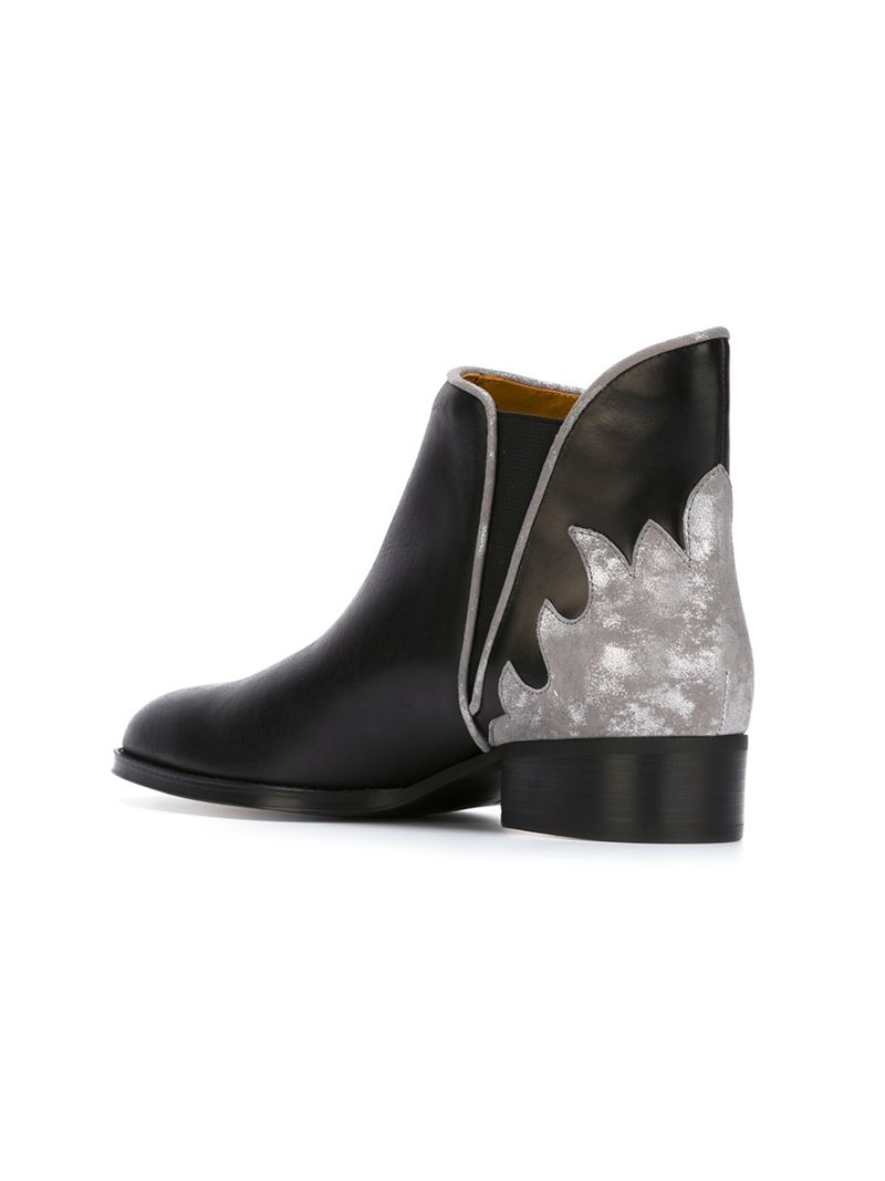 see by chlo 39 skyla 39 ankle boots in black lyst. Black Bedroom Furniture Sets. Home Design Ideas