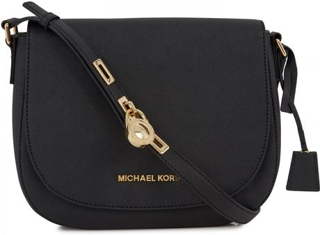 627966891b49b1 Michael Kors Hamilton Black Large Crossbody Bag | Stanford Center ...