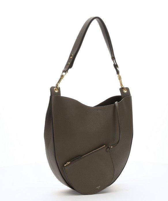 C¨¦line Olive Calfskin Hobo Shoulder Bag in Green (olive) | Lyst