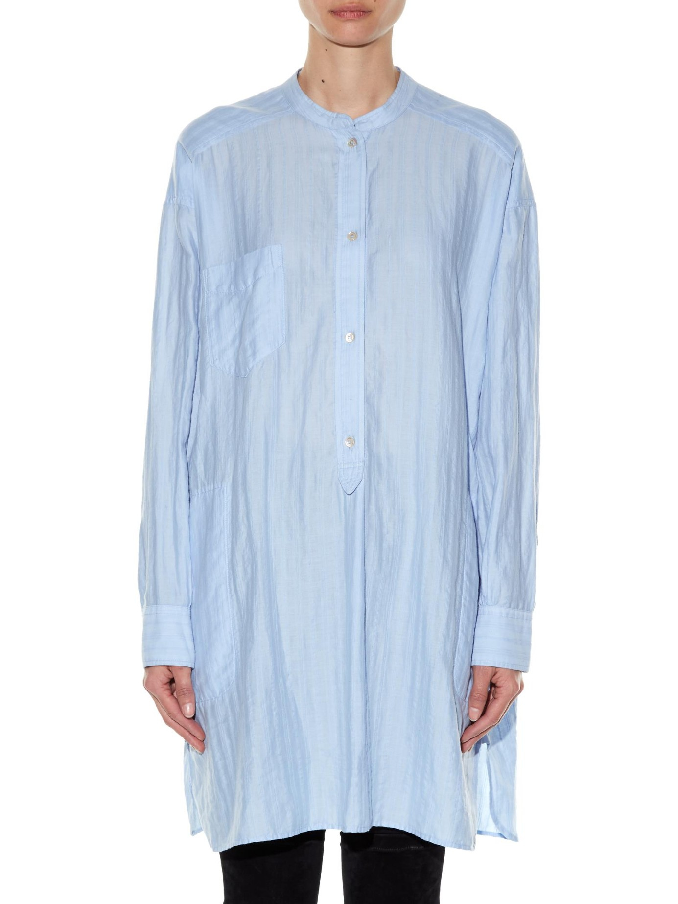 Toile Isabel Marant Nita Oversized Cotton Shirt Dress In