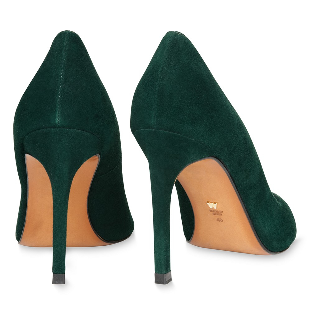 Whistles Cornel High Heeled Stiletto Court Shoes In Green