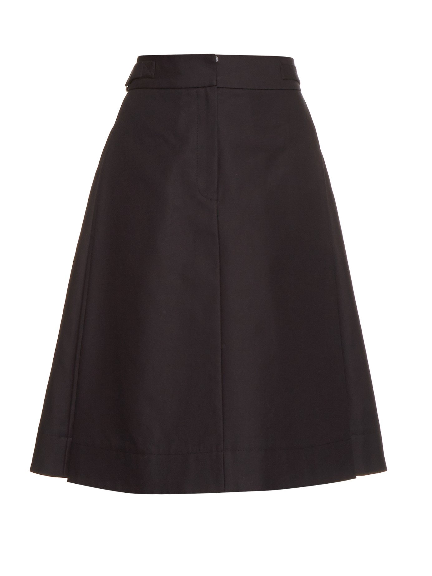 Alexander wang High-waisted A-line Skirt in Black | Lyst