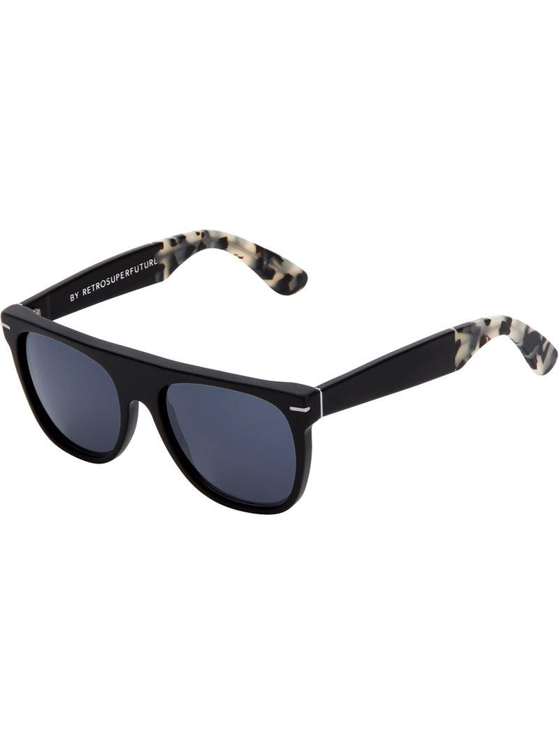 Retrosuperfuture Flat Top Ghost Rider Sunglasses In