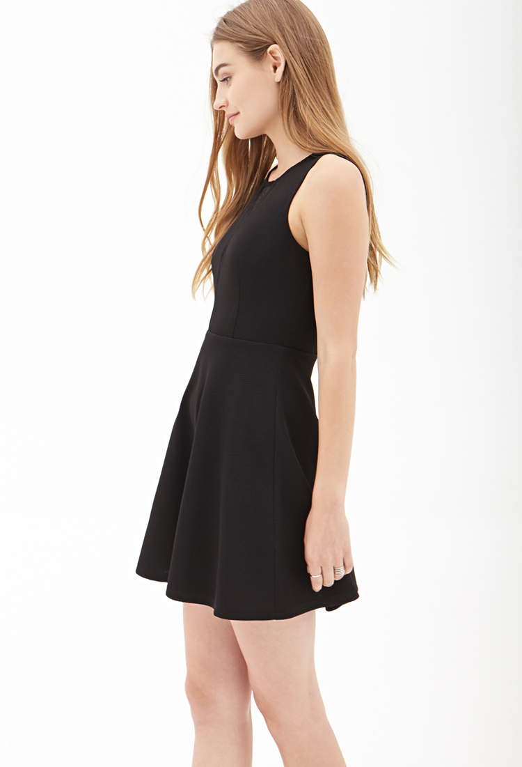 Forever 21 Lace Cutout Skater Dress You've Been Added To The ...