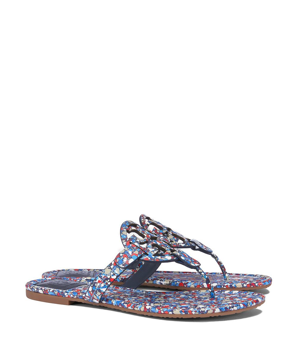 4107288153393f ... Printed Patent Leather in Red - Lyst new concept e1c35 5c099  NIB  Authentic TORY BURCH Festival Flip Flop in Linosa Red Blue Combo Sz 6 75 ...