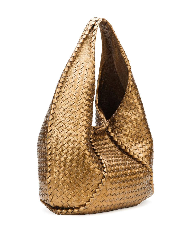 8eac722f1287b Bottega Veneta Cervo Large Metallic Hobo Bag Bronze in Metallic - Lyst