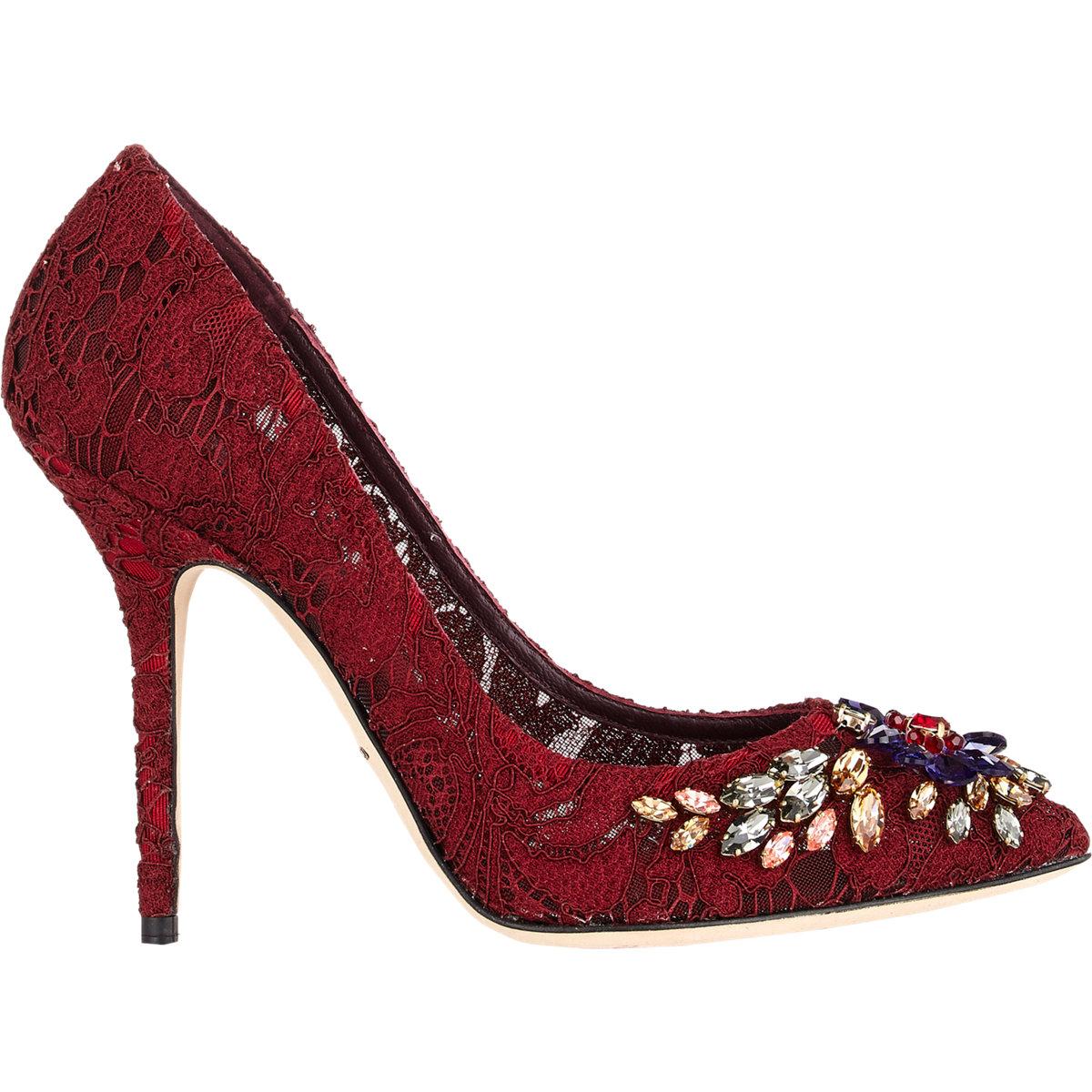 Red Jeweled Heels